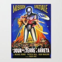 Mission Spatiale, Le Jour ou la Terre s Arreta, sci-fi vintage movie poster Canvas Print