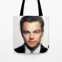 leonardo dicaprio Tote Bags featuring Leonardo DiCaprio by lauramaahs