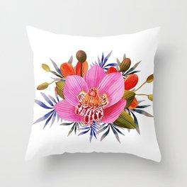 Beautiful PINK Flower Throw Pillow