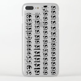 Cartographic Projections Clear iPhone Case