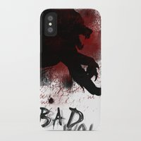 bad wolf iPhone & iPod Cases featuring Bad wolf by Halopromise