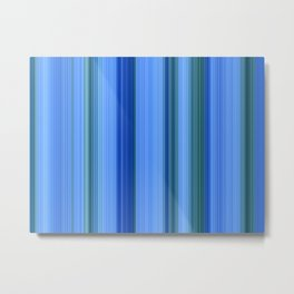 Blue Mishap Metal Print