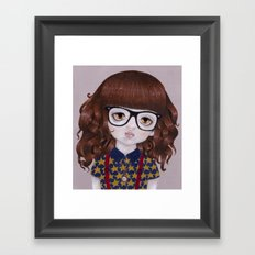Margot- Hipster Girl Framed Art Print