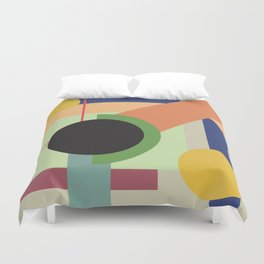 Abstract geometric composition study- Space Duvet Cover