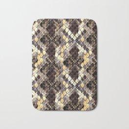 The pattern of snake skin. Bath Mat