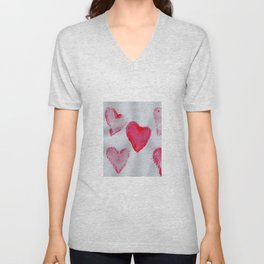 LOVE-ly Hearts Unisex V-Neck