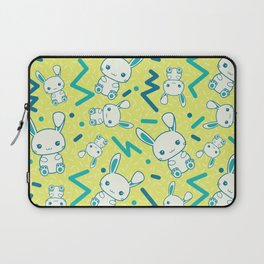 80's styled Easter illustration. Cute bunny included! Laptop Sleeve