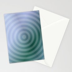 Teal Circles Stationery Cards
