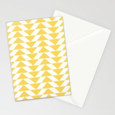 Yellow Triangle Stationery Cards