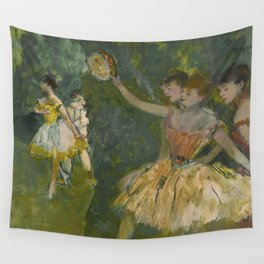 """Edgar Degas """"Dancers with tambourine"""" Wall Tapestry"""