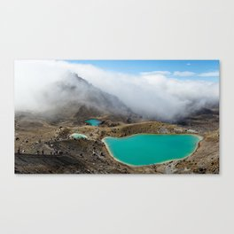 Emerald Lakes, New Zealand Canvas Print