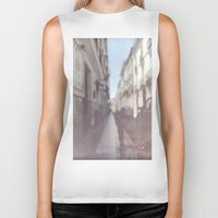 madrid Biker Tanks featuring Madrid, Spain by Jane Lacey Smith