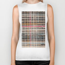 structure with red lines Biker Tank