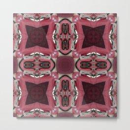 Soft Red Quadrant Metal Print