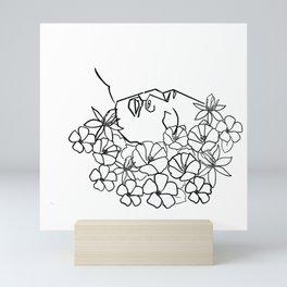 Lying flowers Mini Art Print