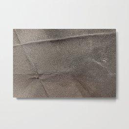 Crumpled Sandpaper Texture Metal Print