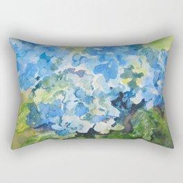 Blue Hydrangeas Rectangular Pillow
