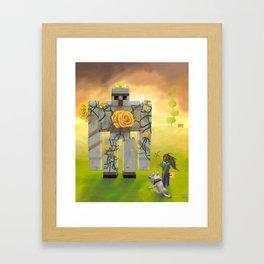 Taming the King Framed Art Print