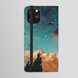 Seeing a City in the Clouds iPhone Wallet Case