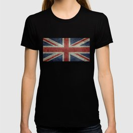 UK Flag, Dark grunge 1:2 scale T-shirt
