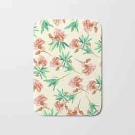 Tropical Oleander Bath Mat