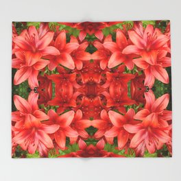 """A Gathering of Lilies"" Remix - 5 (3-1) [D4471~15] Throw Blanket"