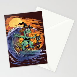 Witch At The Beach Stationery Cards