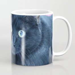 Spooky the Black Feral Halloween Sanctuary Cat Coffee Mug