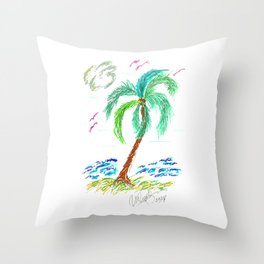 """Beach Afternoon"" Throw Pillow"