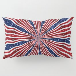 American Flag Kaleidoscope Abstract 1 Pillow Sham
