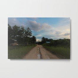 Beauty of a Mud Road Metal Print