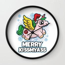 Merry Kiss My Ass Wall Clock