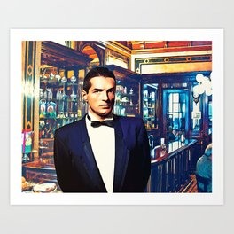 Falco at the Cafe Art Print