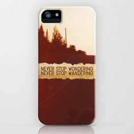 wonder + wander. iPhone Case