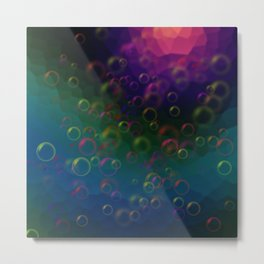 Abstraction. Bubbles. Metal Print