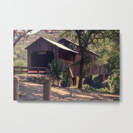 Honey Run Covered Bridge Farewell Metal Print
