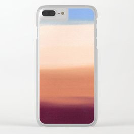 Desert Dust Storm Clear iPhone Case