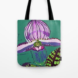 Lady Slipper Tote Bag