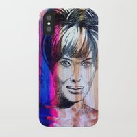 angelina jolie iPhone & iPod Cases featuring Angelina Jolie by Pablo Moitzheim
