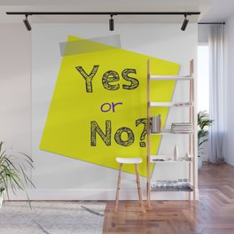 Yes or No, Question, Flirting Wall Mural
