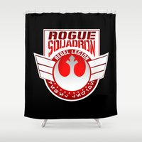 rogue Shower Curtains featuring Rogue Squadron patch by Buby87
