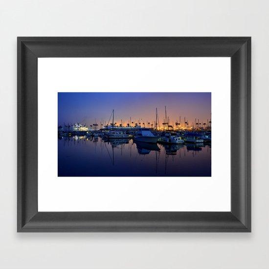 Purple Dawn Marina Framed Art Print