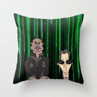 matrix Throw Pillows featuring Matrix by flydesign