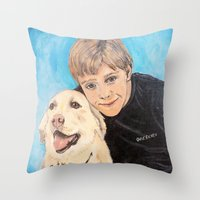 best friends Throw Pillows featuring Best Friends by gretzky