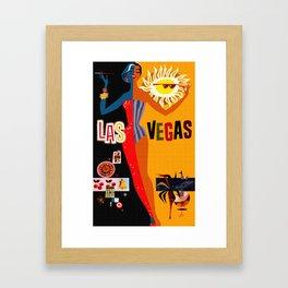 Vintage Las Vegas Travel Poster Framed Art Print