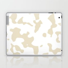 Large Spots - White and Pearl Brown Laptop & iPad Skin