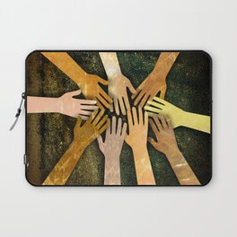 Grunge Community of Hands Laptop Sleeve