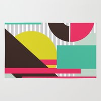 geo Area & Throw Rugs featuring GEO by LNLONDON