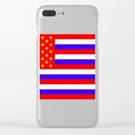The New flag for the USA (Putin approved) Clear iPhone Case