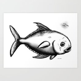 Permit pool Art Print